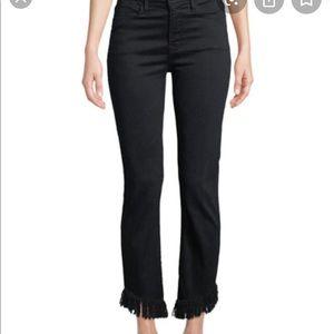 Frame le crop mini frayed hem jeans